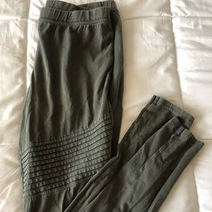 Olive green Moto leggings